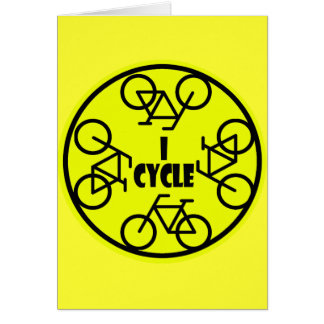 I CYCLE (BICYCLE) GREETING CARD