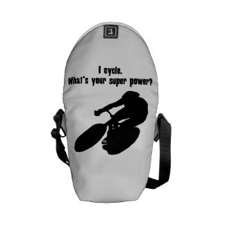 I Cycle What s Your Super Power Messenger Bag