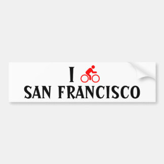 I CYCLE <Your City> Custom Bumpersticker (red) Bumper Sticker