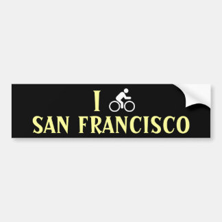 I CYCLE <Your City> Custom Bumpersticker (white) Bumper Sticker