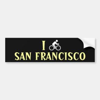 I CYCLE <Your City> Custom Bumpersticker (white) Bumper Sticker