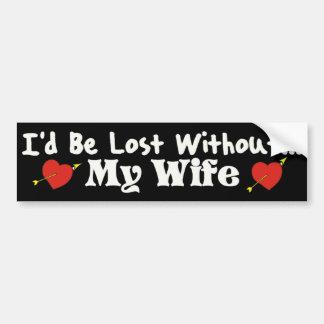 I d Be Lost Bumper Sticker