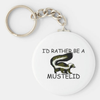 I d Rather Be A Mustelid Keychain
