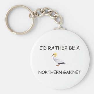 I d Rather Be A Northern Gannet Key Chain