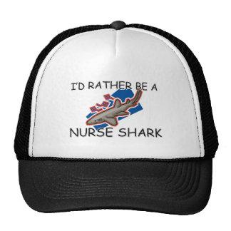 I d Rather Be A Nurse Shark Trucker Hat