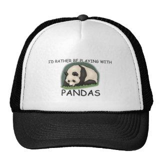 I d Rather Be A Panda Bear Mesh Hats