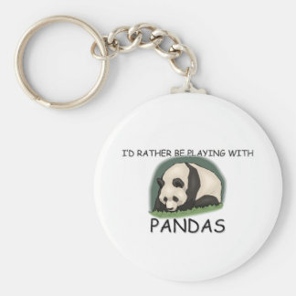 I d Rather Be A Panda Bear Key Chain