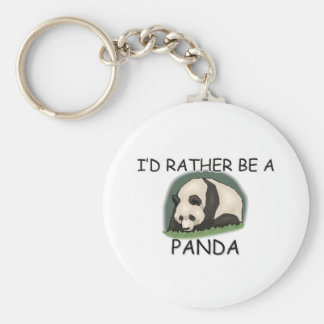 I d Rather Be A Panda Key Chain