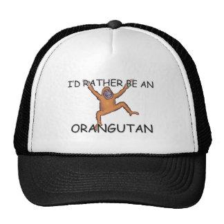 I d Rather Be An Orangutan Trucker Hat