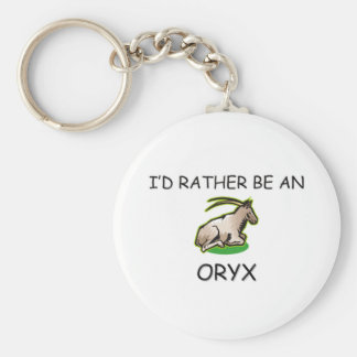 I d Rather Be An Oryx Key Chains
