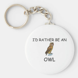 I d Rather Be An Owl Keychains