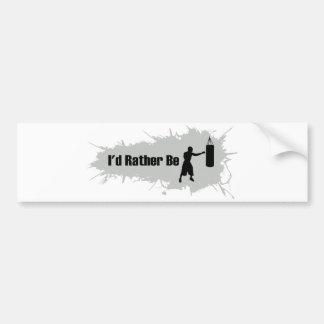 I d Rather Be Boxing Bumper Sticker
