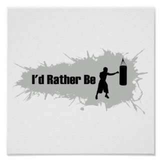 I d Rather Be Boxing Poster