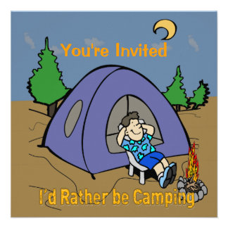 I d Rather Be Camping - Camp Scene Invitation