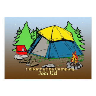 I d Rather Be Camping Invitation