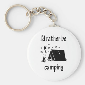 I d Rather Be Camping Keychains