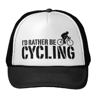 I d Rather be Cycling male Trucker Hats