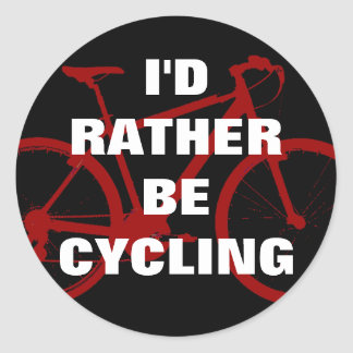 I d rather be cycling sticker
