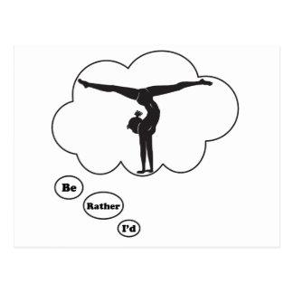 I d rather be Doing Gymnastics Post Cards