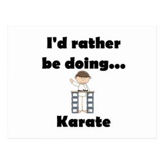 I d rather be doing Karate Postcards