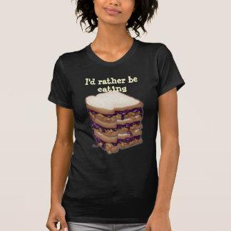 I d Rather Be Eating PBJ Sandwiches Tshirts