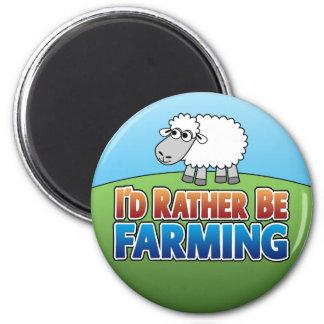 I d Rather be Farming Virtual Farming Magnet