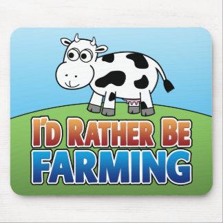 I d Rather be Farming Virtual Farming Mousepads