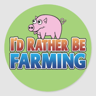 I d Rather be Farming virtual farming Stickers