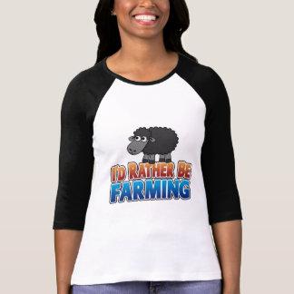 I d Rather be Farming Virtual Farming T-shirt