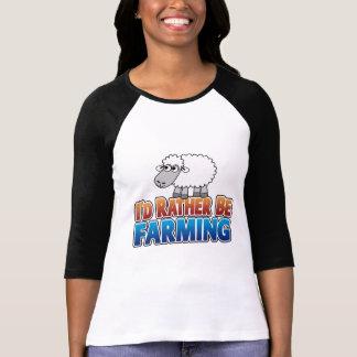 I d Rather be Farming Virtual Farming Tshirts