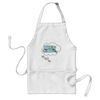 I d rather be Fencing Apron