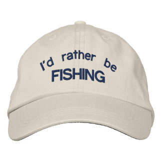 I d Rather be Fishing Adjustable Cap Embroidered Hat