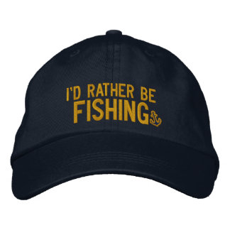 I d rather be fishing embroidered baseball cap