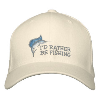 I d Rather Be Fishing Embroidered Hat