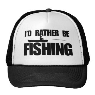 I d rather be fishing trucker hat