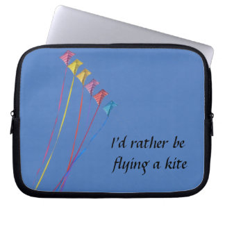 I d Rather Be Flying a Kite Laptop Sleeve