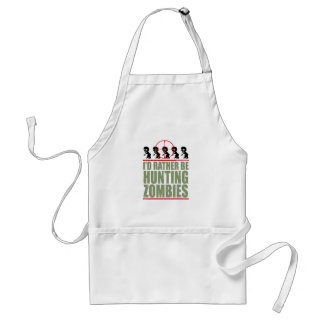 I d Rather Be Hunting Zombies Apron