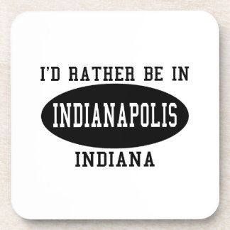 I d Rather Be in Indianapolis Beverage Coaster