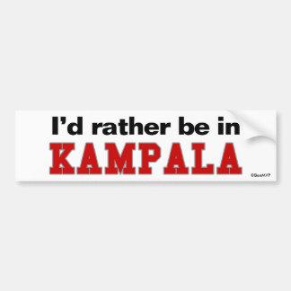 I d Rather Be In Kampala Bumper Sticker