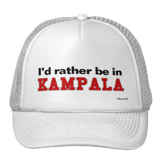 I d Rather Be In Kampala Mesh Hats