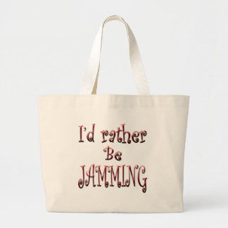 I d rather be Jamming Canvas Bag