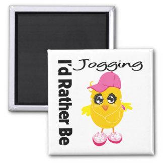 I d Rather Be Jogging Refrigerator Magnets