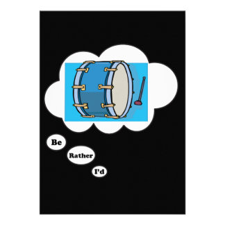 i d rather be playing Bass Drum Invitations