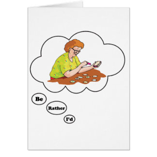 I d rather be playing Solitaire 2 Greeting Card