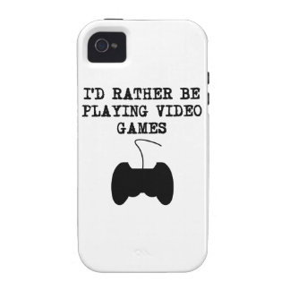 I d Rather Be Playing Video Games Case-Mate iPhone 4 Cases