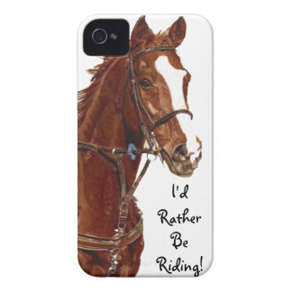 I d Rather Be Riding Horse iPhone 4 Case-Mate Cas