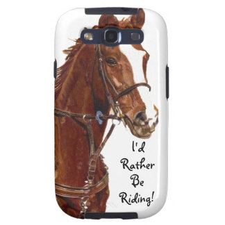 I d Rather Be Riding Horse Samsung Siii Case Galaxy SIII Covers