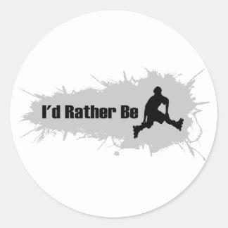 I d Rather Be Rollerblading Sticker