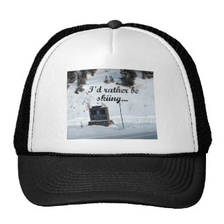 I d rather be skiing Monarch Mountain Mesh Hats