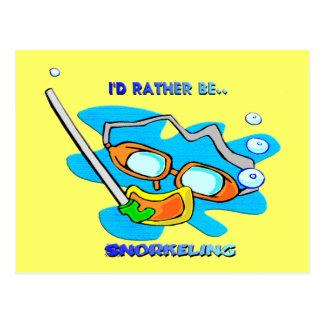 I d Rather be Snorkeling Postcards